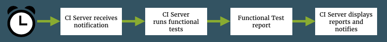 Flow of functional test reporting